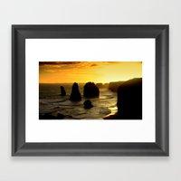 Dusk falls over the Southern Ocean Framed Art Print