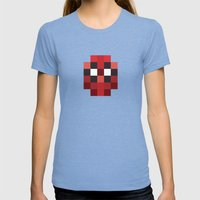 Hero Pixel Red Blue Womens Fitted Tee Tri-Blue SMALL