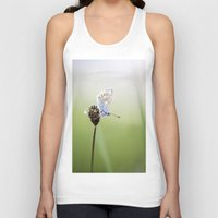 Common Blue Butterfly Unisex Tank Top