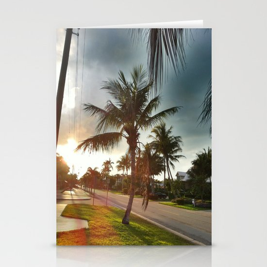 Palm Tree Stationery Card