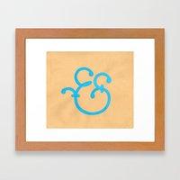 Handmade Ampersand  Framed Art Print