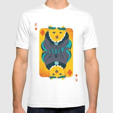 Cat the King of Diamonds Mens Fitted Tee White SMALL