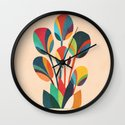 Ikebana - Geometric flower  Wall Clock