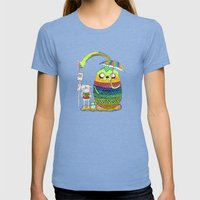 Adventure time Totoro by Luna Portnoi Womens Fitted Tee Tri-Blue SMALL