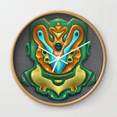 Summer Totem Green Wall Clock
