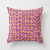 Diamonds are Forever-Fiesta Colors Throw Pillow