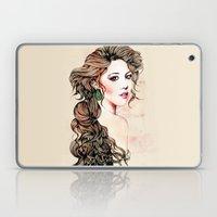 Woman with long hair  Laptop & iPad Skin