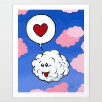 Cloud Print Set 2 of 2 Art Print