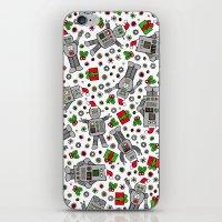 Merry Christmas Robots iPhone & iPod Skin