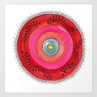 Art Print featuring Red Mandala by Gosia&Helena