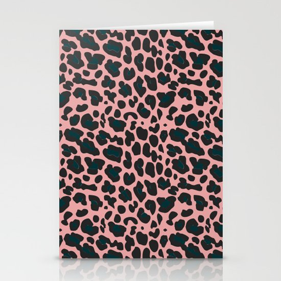 sexy leopard Stationery Card