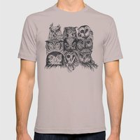 Nine Owls Mens Fitted Tee Cinder SMALL