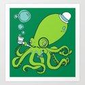 Mr.Octopus Art Print
