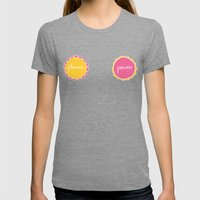 Flower Power Womens Fitted Tee Tri-Grey SMALL