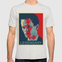 LEGENDARY Mens Fitted Tee Silver SMALL