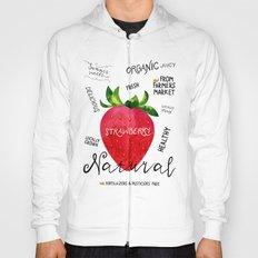 Watercolor strawberry Hoody