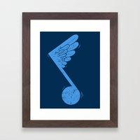 Flying Note Framed Art Print