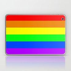 Rainbow Pride flag - Horizontal Stripes version Laptop & iPad Skin