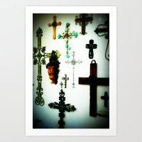 Crosses Art Print