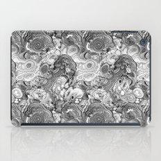 Malachite black and white iPad Case