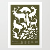 Mammals of the British Isles Art Print