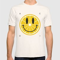 Lemon Mens Fitted Tee Natural SMALL