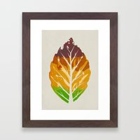 Leaf Cycle Framed Art Print