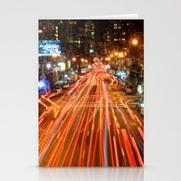 City Traffic In The Nigh… Stationery Cards