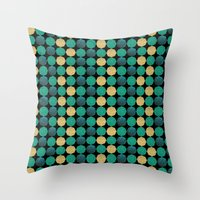 Glitzy Greens Throw Pillow