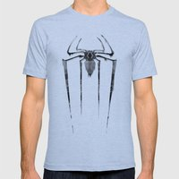 Amazing Spiderman B/W Mens Fitted Tee Athletic Blue SMALL