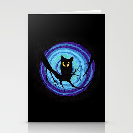 time for child stories: the EVIL OWL Stationery Card
