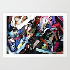 Zippers Art Print