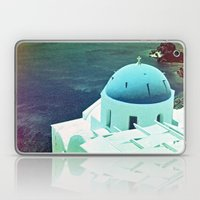 Blue Dome Church, Santorini: Shot with a Nikon FM2 and Revolog 600nm film Laptop & iPad Skin