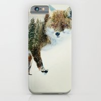 iPhone & iPod Case featuring winter fox by vin zzep