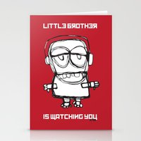 Little Brother Is Watchi… Stationery Cards