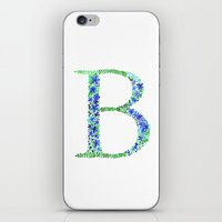 Floral Monogram Letter B iPhone & iPod Skin