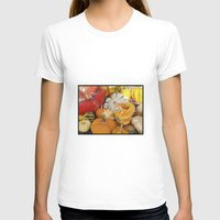 Fall Crop, Paris Womens Fitted Tee White SMALL
