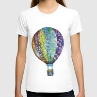 Hot Air Balloon Womens Fitted Tee White SMALL