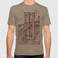 Bridge Mens Fitted Tee Tri-Coffee SMALL