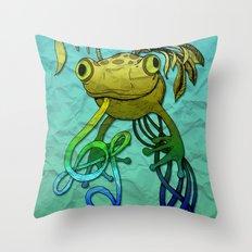 Psychoactive Frog Throw Pillow