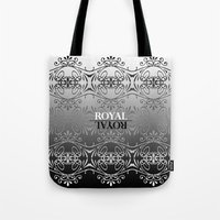Black and white lace pattern Tote Bag