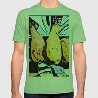 Abstract Pears Mens Fitted Tee Grass SMALL