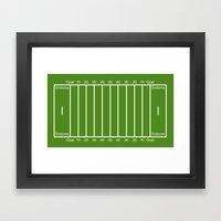 Football Field design Framed Art Print