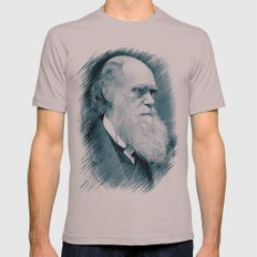 Charles Darwin Mens Fitted Tee Cinder SMALL