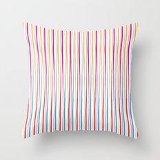 Happy Wobbly Lines II Throw Pillow