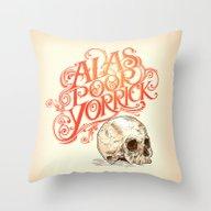 Throw Pillow featuring Hamlet Skull by Rachel Caldwell