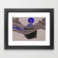 Together We Illuminate The Way Forward (light grey) Framed Art Print