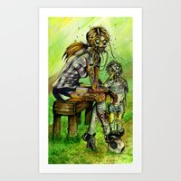 Zombie Soccer Mom Art Print