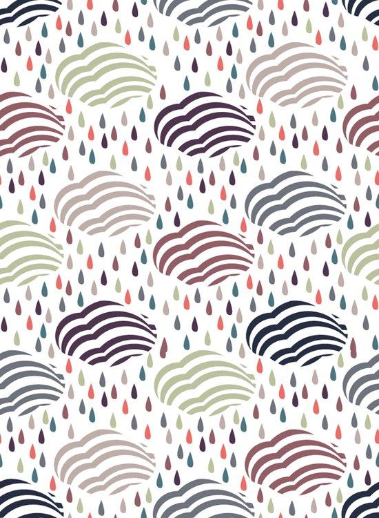 Rain and clouds Art Print