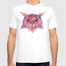 Owla owl SMALL Mens Fitted Tee White